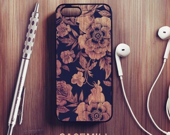 Wood Floral iPhone 6 Case Floral iPhone 6s Case iPhone 6 Plus Case iPhone 6s Plus Case Floral iPhone 5s Case iPhone 5 Case iPhone SE Case