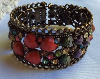 Jewelled cuff bracelet  1990