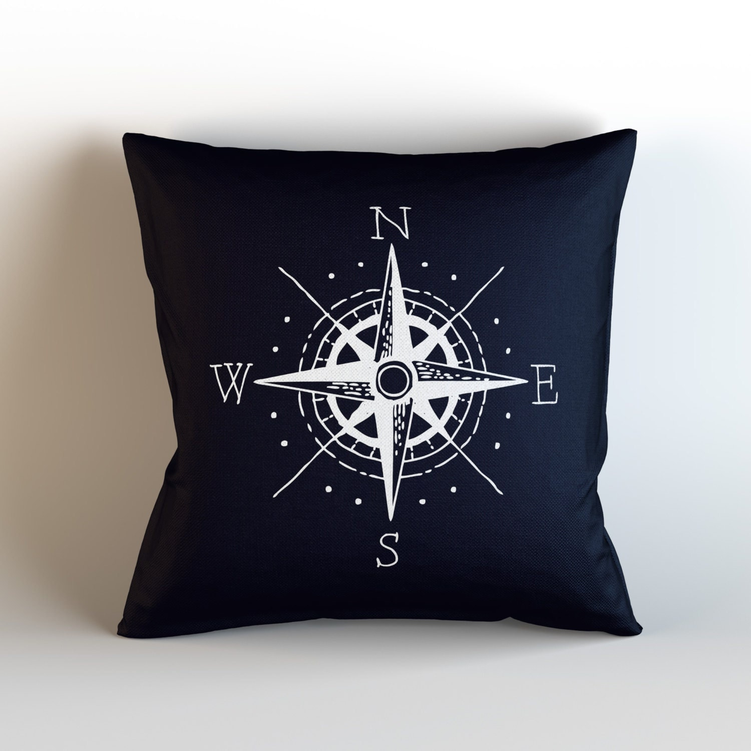 Throw Pillows Nordstrom : Nautical Compass / Decorative Throw Pillow with optional