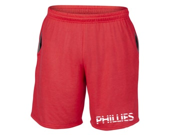 Mens Phillies Shorts Red Sizes Small - 2XL