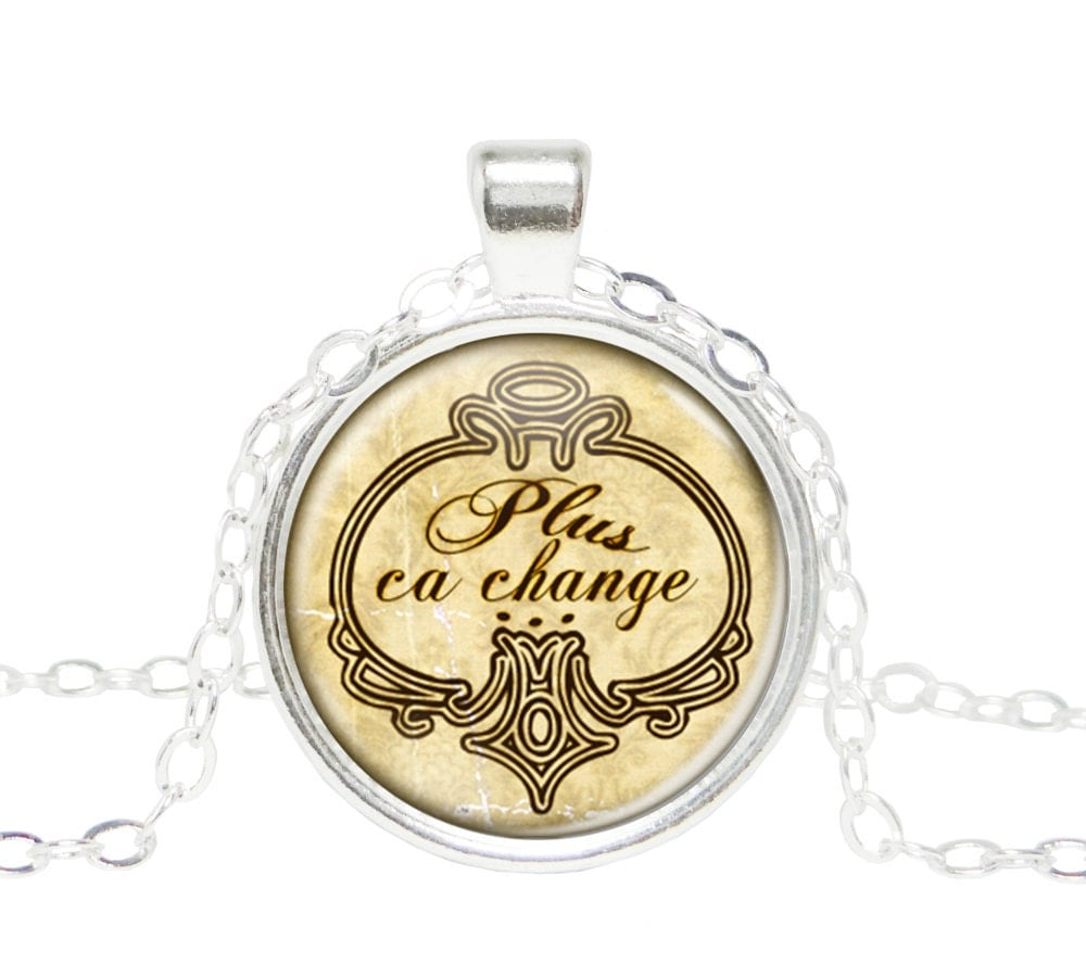 Paris French Necklace France Jewelry French Quote Necklace