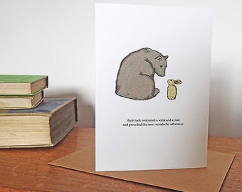 Bear and Rabbit Adventure Card