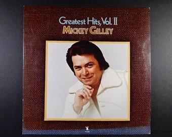 Mickey Gilley Greatest Hits, Vol. II Vintage Vinyl Record 1977 /  Bring It On Home To Me / Don't The Girls All Get Prettier At Closing Time