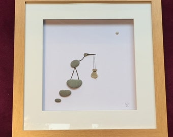 "Pebble Art - ""New Arrival"""