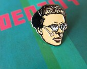 "1"" Aldous huxley pin. Enamel pin. Badge. Brave New World. Author. Pin game. Dystopian writer. Doors of Perception. Psychedelic"