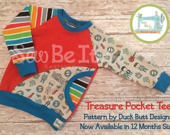SALE 12m Treasure Pocket Tee (Reg. Price 25)