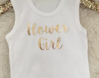 Bridal Flower Girl Tank Top // Custom Gold Foil / Wedding / Bride / Bridesmaid