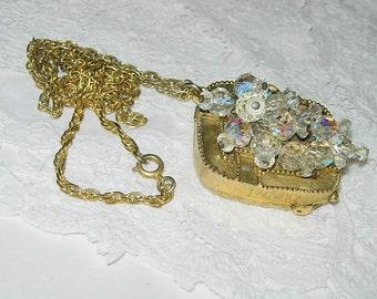 Handmade Upcycled Perfume Locket with Chain