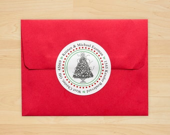 Personalized Holiday Address Seals