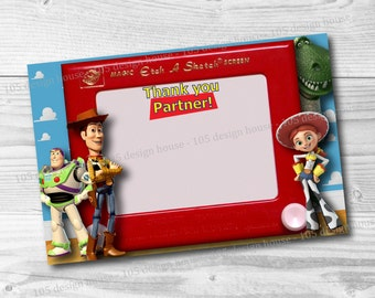 Toy Story Thank You Card Printable 4x6 INSTANT DOWNLOAD - Toy Story Party Thank You Card