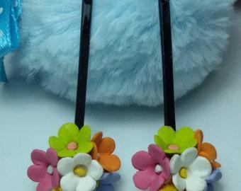 Lilac hiar pin, hair pin clay, jewelry hair pin