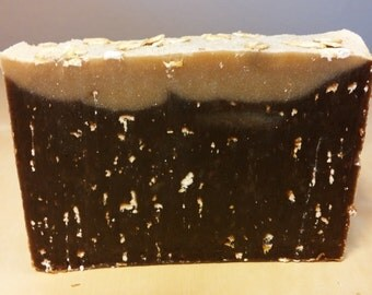 Oatmeal Chocolate Stout Soap - Handmade with beer (homebrew )