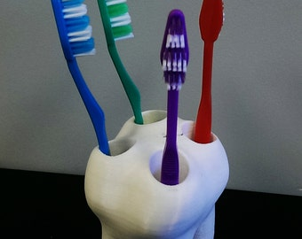 3D Printed 'Big Tooth' Toothbrush Holder