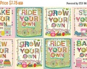HALF PRICE Home Grown DIY Panel, Quilt Panels, Multi Panel Quilt Panel