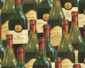 Wine Glasses on Cream Fabric, You Had Me at Merlot 44018 / Wilmington prints / Fat Quarter / 1 Yard Cut  / 1/2 Yard Cuts