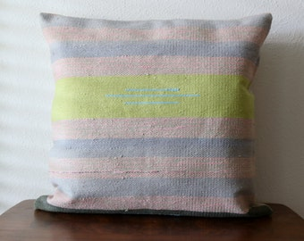 One of a Kind Woven Pillow