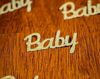 Gold Glitter Baby Shower Confetti