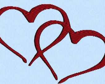 Hearts Embroidery Design- Instant Download
