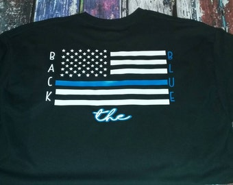 United We Stand/Back the Blue T-Shirt ADULT