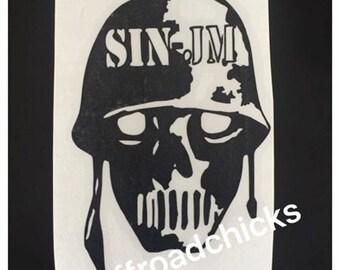 SINJM skull decal