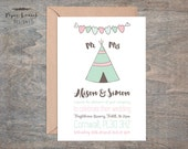 Tipi Wedding Invite