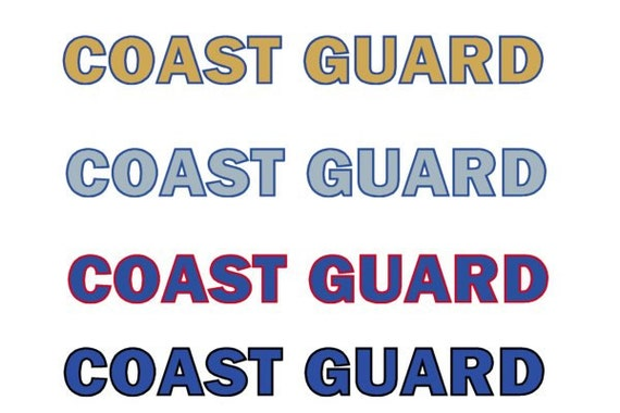 US Coast Guard 2 Color Vinyl Decal Sticker Sign In By