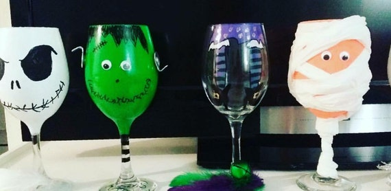 Halloween Themed Wine Glasses