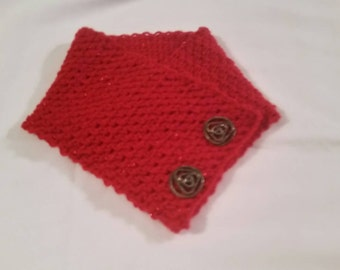 Crocheted Red Neck Wrap
