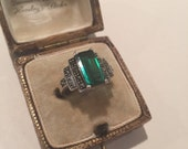 Super sale Vintage silver Topaz ring, beautiful timeless piece