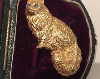 Super sale Vintage Cat brooch, fantastic Costume piece