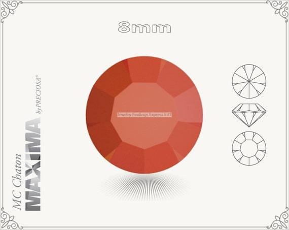 6 pc.+ SS39 (8mm) Preciosa MC Chaton MAXIMA - Coral Color
