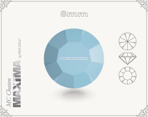 6 pc.+ SS39 (8mm) Preciosa MC Chaton MAXIMA - Turquoise Color