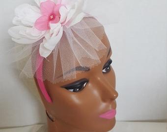 White And Pink Fascinating Headband