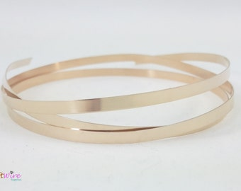 1 Foot of 14K Yellow Gold Filled Strip Bezel Wire, 14/20, Plain, Dead Soft, 26 and 28 Gauge, Jewelry, Craft