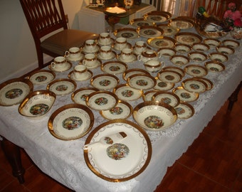 Beautiful Antique Dinner/Tea set from 1920's Excellent condition 100 pieces
