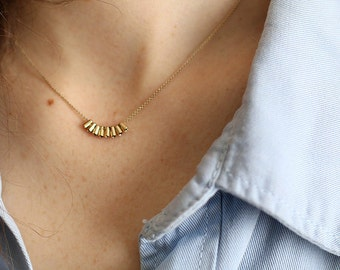 Gilded gold necklace
