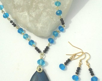 Blue October Necklace and Earring Set