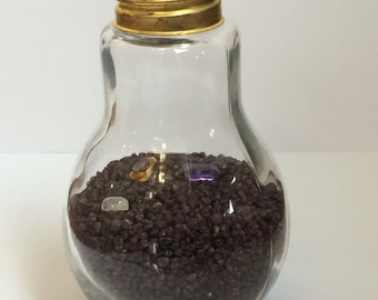 Light Bulb Table Top Gemstone Display Decoration Medium Size