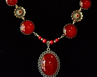 Red Turquoise Necklace