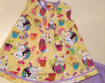 Girl's Easter Dress with Diaper Cover
