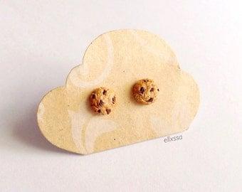 Miniature Chocolate Chip Cookie Earrings