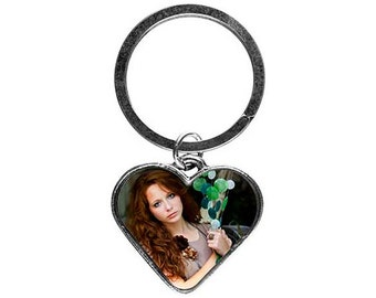 Heart Key Ring (Custom Photo)