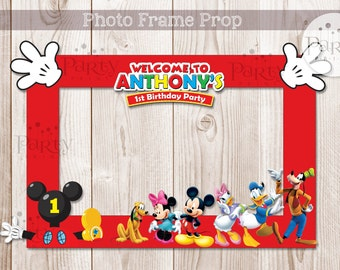 Mickey Mouse Clubhouse Inspired DIY Photo Frame Prop (Digital Copy) **No physical item will be shipped**