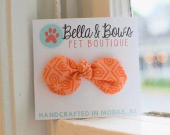 Dog Hair Bow Clip, Bright Orange Hair Clip