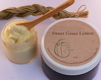 Sweet Grass Lotion - All Organic Ingredients