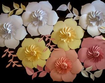 Paper Flower Backdrop, Giant Paper Flowers, Wedding Centerpiece, Wedding Backdrop
