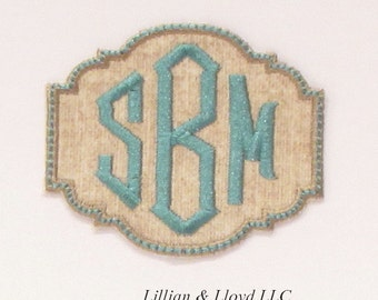 Monogram Patch with Diamond Font Iron-On Applique