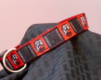 Team Georgia Bulldog dog collar