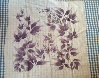 Silk ivy scarf