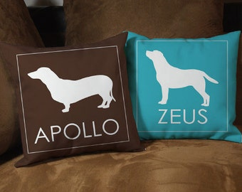 Personalized Dog Breed 14 inch Throw Pillow